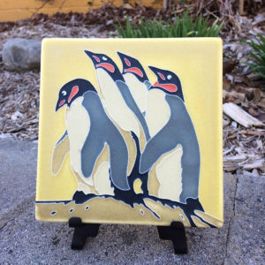 Motawi Penguin Tile